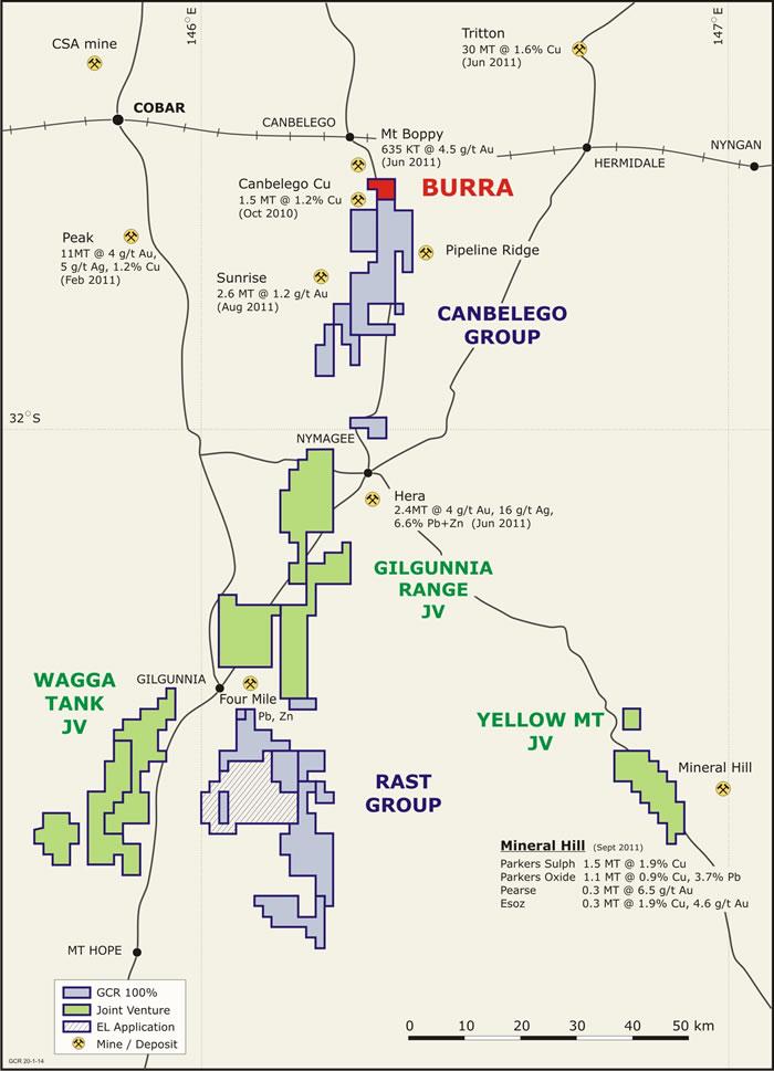 图1 - Burra项目的位置